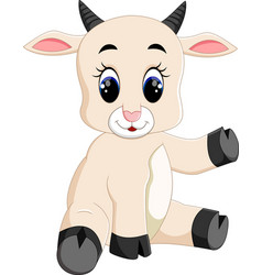 cute baby goat cartoon vector image