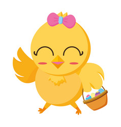cute chick female cartoon vector image