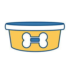 dog bowl bone vector image