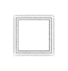 dotted white square frame vector image