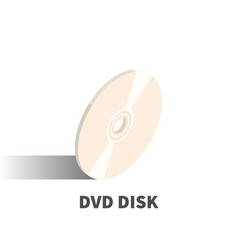 dvd disc icon symbol vector image