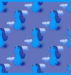 Fairytale unicorn seamless pattern vector
