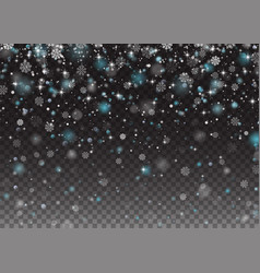 Falling shining snowflakes christmas winter and vector