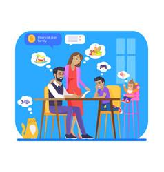 Financial family plan poster vector