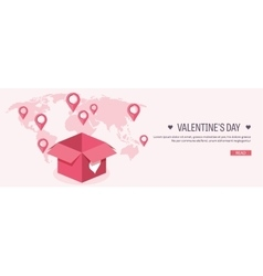 Flat background with box and vector