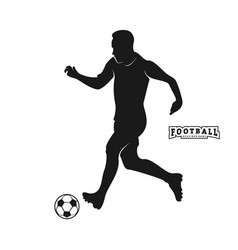 football player silhouette football player vector image