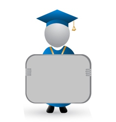 Graduate with announcement symbol vector
