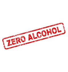 Grunge zero alcohol rounded rectangle stamp vector