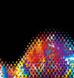 halftone rainbow wave vector image