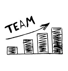 hand drawn chart graphic development team vector image