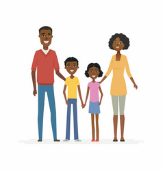 happy african family - cartoon people characters vector image