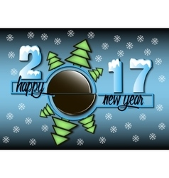 Happy new year 2017 and hockey vector image