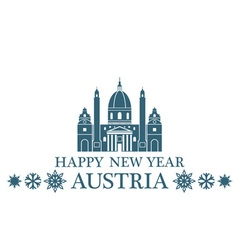 Happy New Year Austria vector