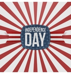 Independence Day greeting Badge with Type vector image