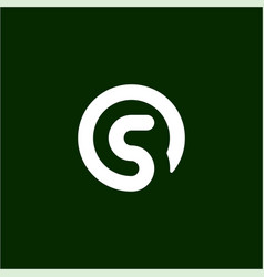 initial letter s logo template with circle symbol vector image