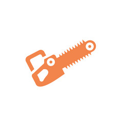 Isolated construction chainsaw design vector