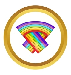 LGBT flag icon vector