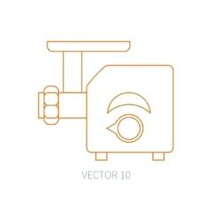 Line flat kitchenware icons - meat grinder vector image