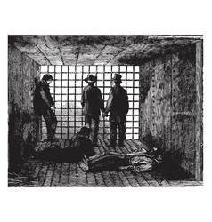Little rock prison vintage vector