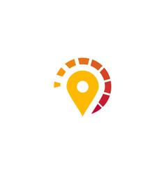 location logo navigation logo navigator logo vector image