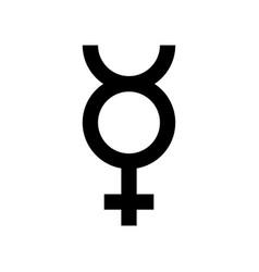 Mercury symbol icon isolated on white vector
