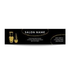 Nail polish gold glitter shiny banner vector