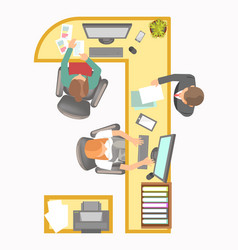 Office manager secretary reception work place vector