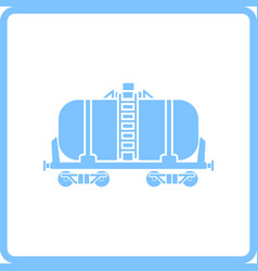 Oil railway tank icon vector
