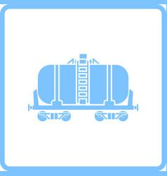 oil railway tank icon vector image