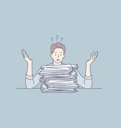overworking depression deadline mental stress vector image
