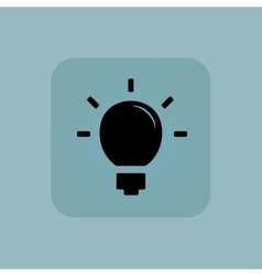 Pale blue light bulb icon vector