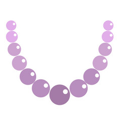 Pearl necklace icon isolated vector