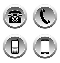 Phone buttons vector