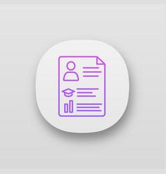Resume app icon vector