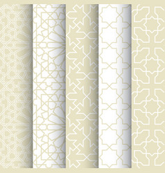 Set of seamless pattern or islamic background vector