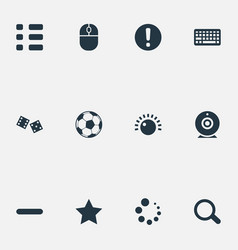 Set simple game icons vector
