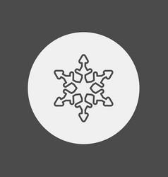 snowflake icon sign symbol vector image