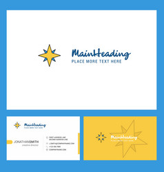 star logo design with tagline front and back vector image