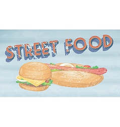 Street food vector image