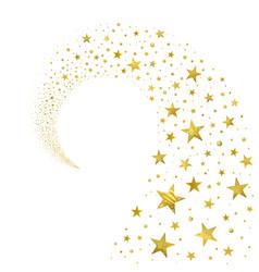 swirl gold stars vector image
