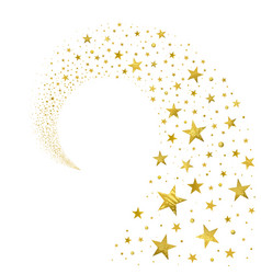 Swirl of gold stars vector