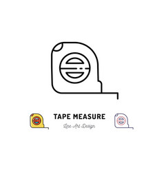Tape measure icon building and household tools vector