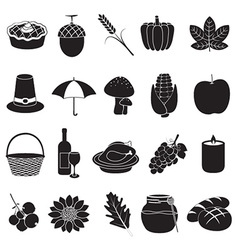 Thanksgiving and harvest icons vector image