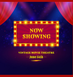 theater or cinema sign design vector image