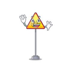 Waving no cycling character shaped a mascot vector
