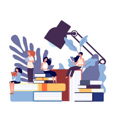 woman education women learning books female vector image