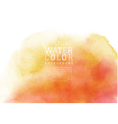 Yellow-orange liquid stain watercolor background vector