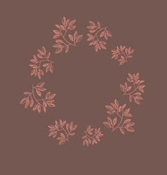 Autumn Flowers Frame vector image