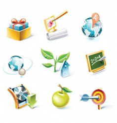 cartoon style icon set vector image