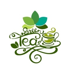Lettering - Green Tea vector image